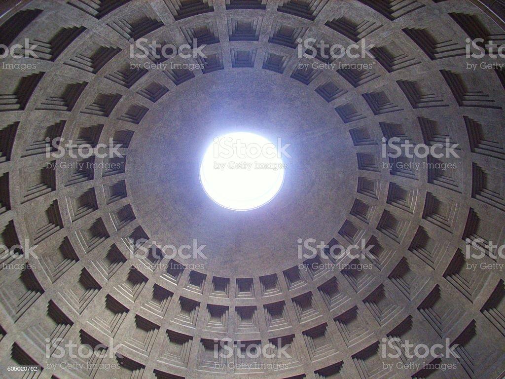 Roma - Interno della cupola del Panteon stock photo