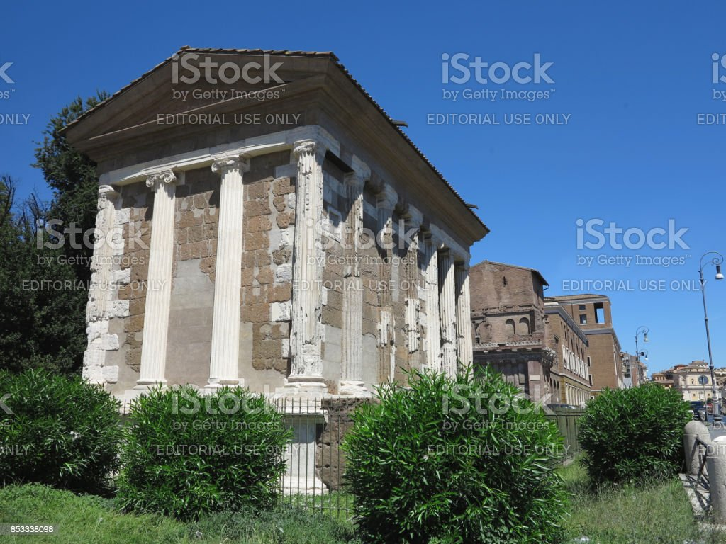 19.06.2017, Roma, Italy: Temple of Fortune Virile stock photo