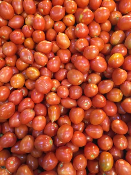 Roma Jam Tomatoes stock photo