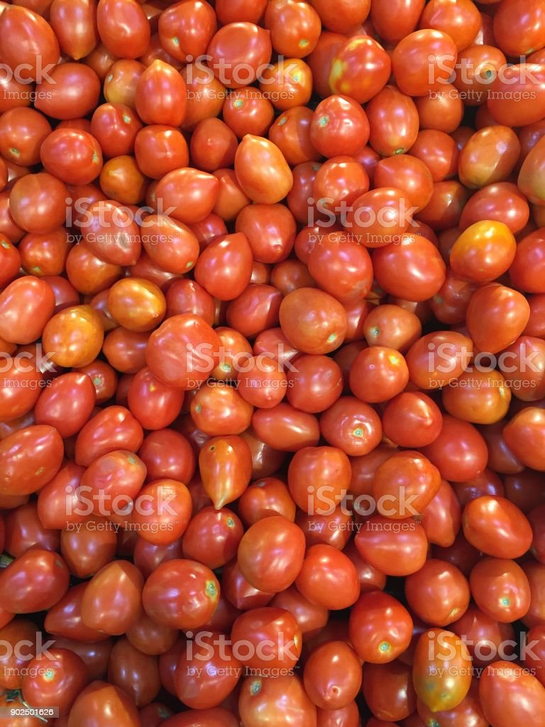 Roma Jam Tomatoes stock photo