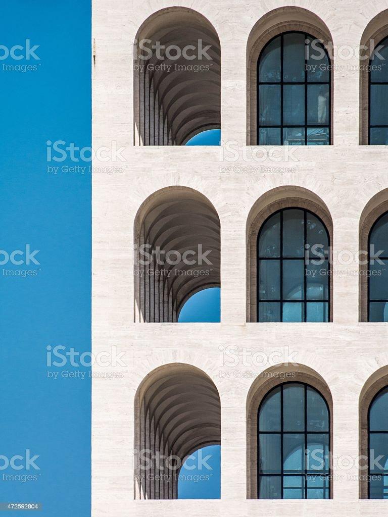 Roma, Palazzo della Civiltà stock photo