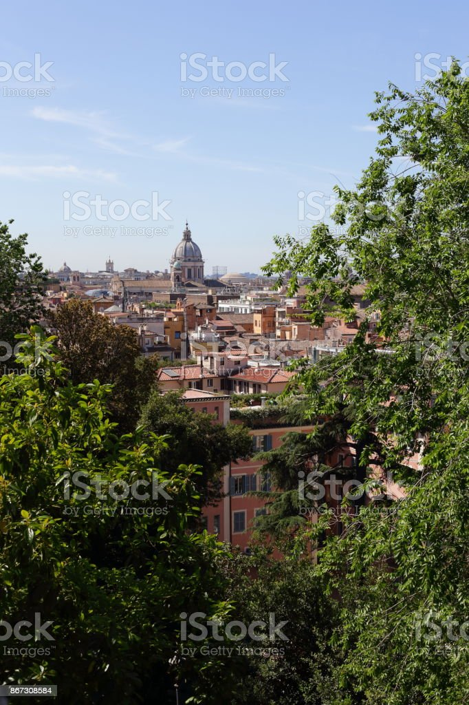 Roma  - panorama from the pincio stock photo