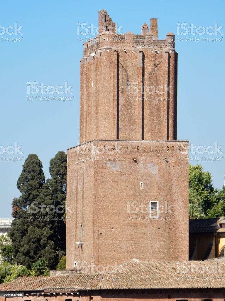 Roma - Torre delle Milizie dal Vittoriano stock photo