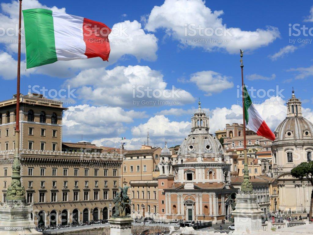 Roma con bandera - foto de stock