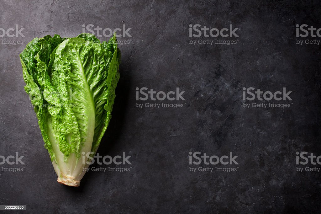 Romaine lettuce salad stock photo