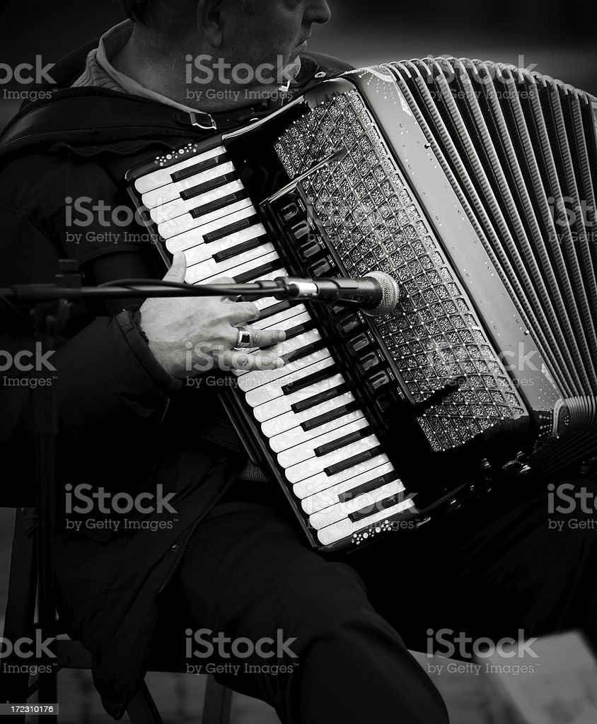 roman accordionist royalty-free stock photo