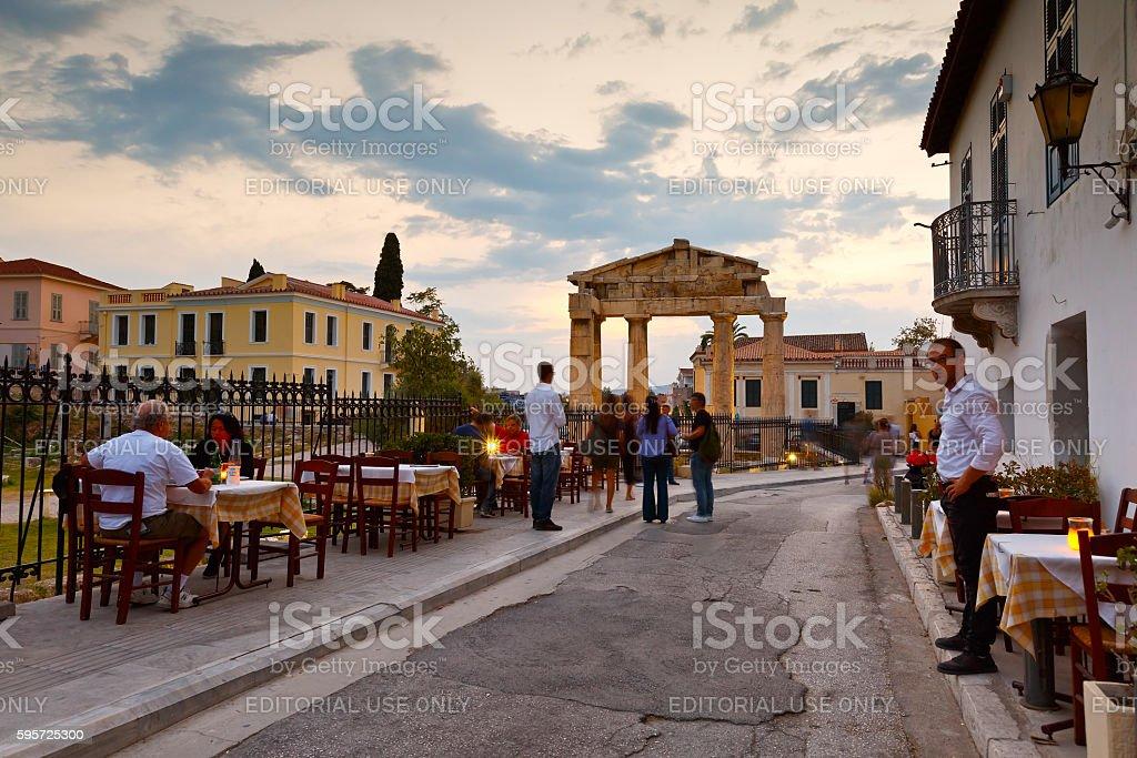 Roman Agora, Athens. stock photo