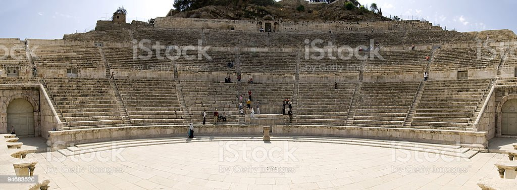 Roman amphitheater in Amman, Jordan stock photo