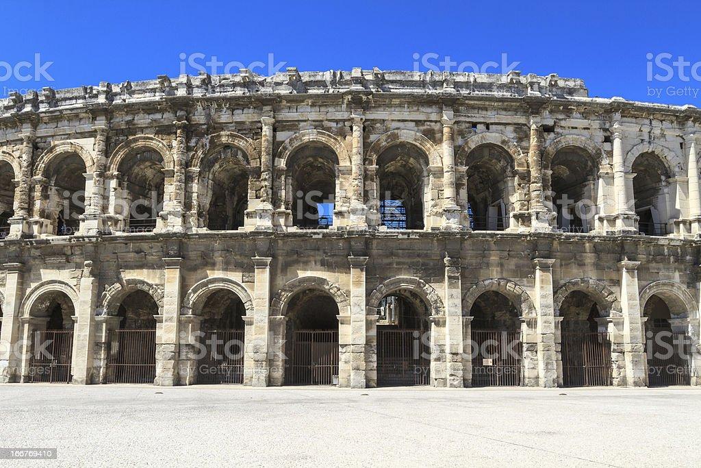 Roman Amphitheater in Nimes, France royalty-free stock photo