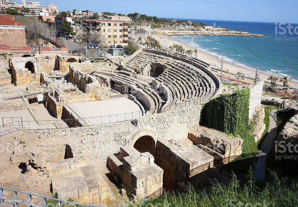 Roman amphitheater of Tarragona.Spain royalty-free stock photo