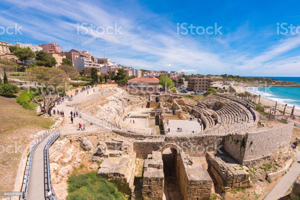 Roman Amphitheater,Tarragona, Costa Daurada stock photo