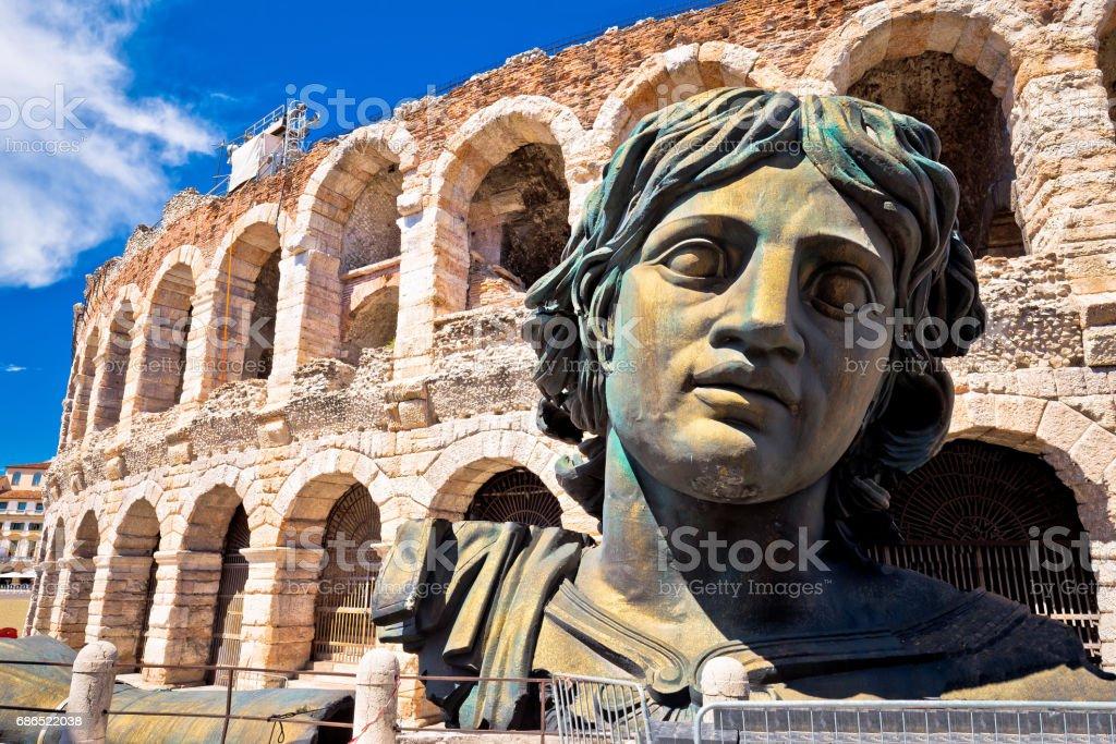 Roman amphitheatre Arena di Verona view, landmark in Veneto region of Italy – Foto