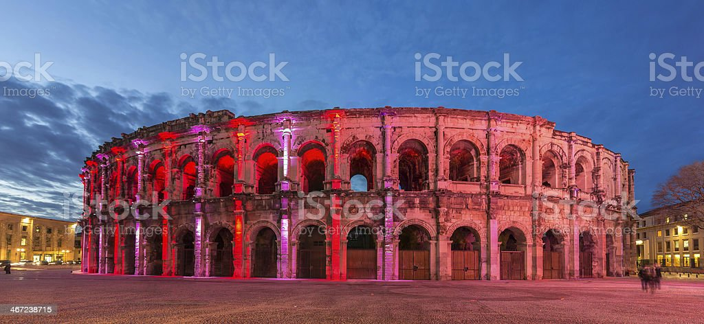Roman amphitheatre - Arena of Nimes stock photo