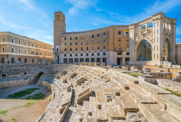 Roman Amphitheatre in Lecce, Puglia (Apulia), southern Italy. Roman Amphitheatre in Lecce, Puglia (Apulia), southern Italy. amphitheater stock pictures, royalty-free photos & images