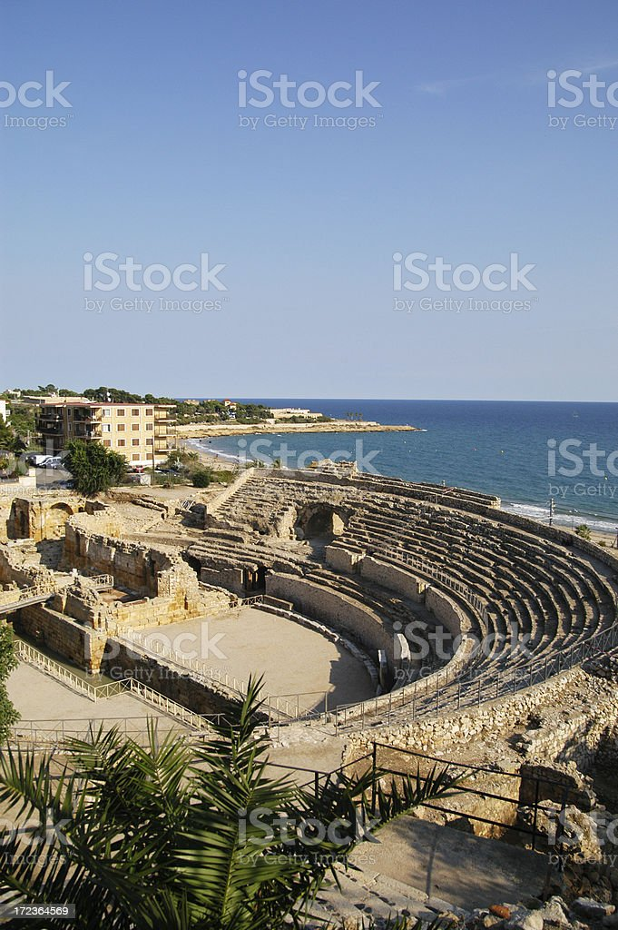 Roman Amphitheatre in Tarragona royalty-free stock photo