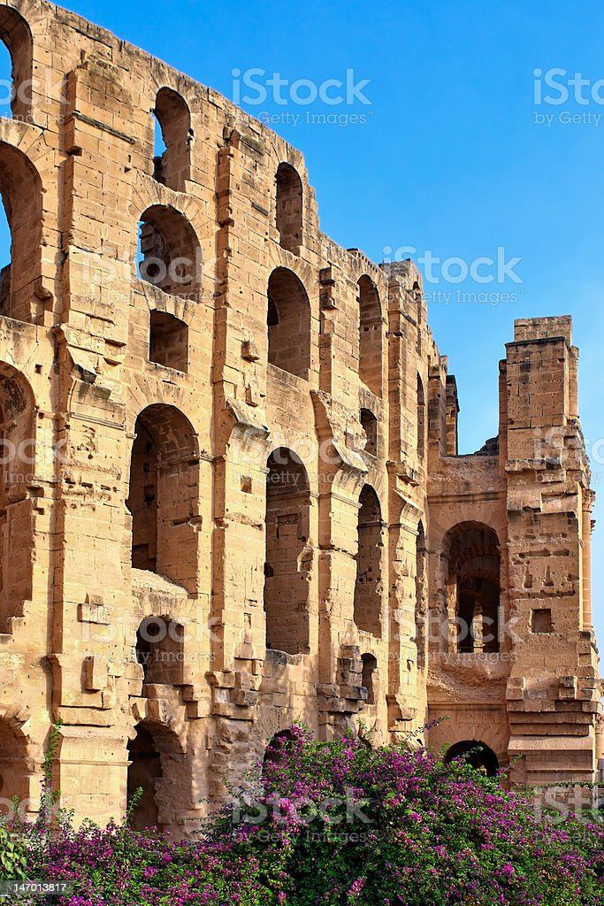 Roman Amphitheatre of El Jem stock photo