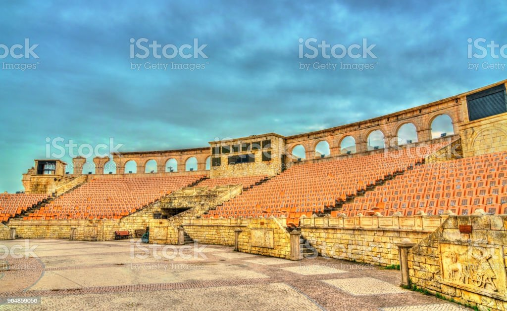 Roman Amphitheatre or Colosseum at Macau Fisherman's Wharf, China royalty-free stock photo