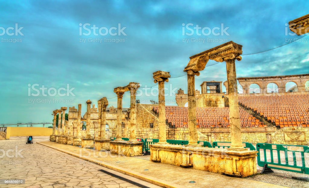 Roman Amphitheatre or Colosseum at Macau Fisherman's Wharf, China royalty-free stock photo
