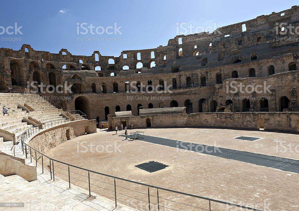 Roman Amphitheatre (El Djem, Tunisia) stock photo