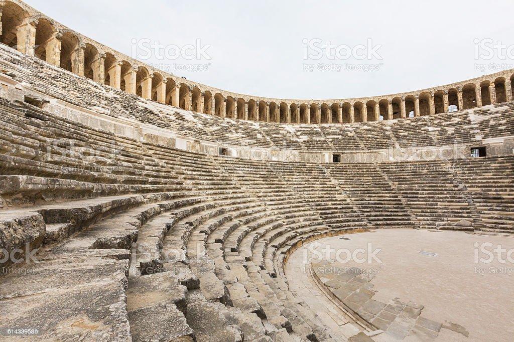Roman amphitheatre stok fotoğrafı