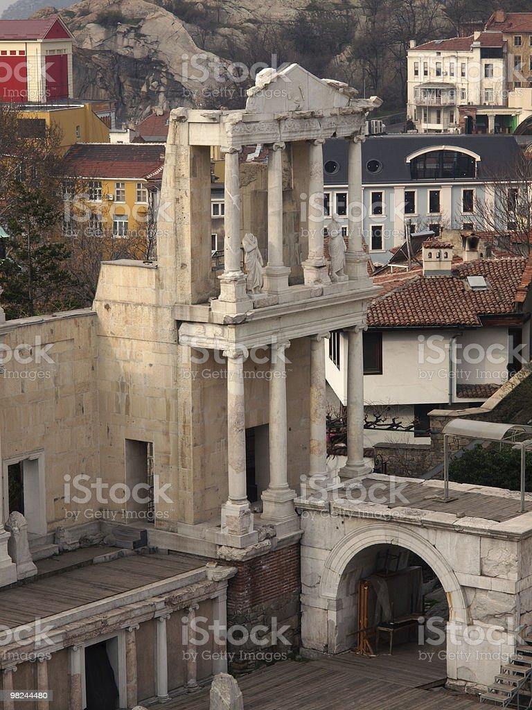 Roman Amphitheatre, Plovdiv, Bulgaria, Europe royalty-free stock photo