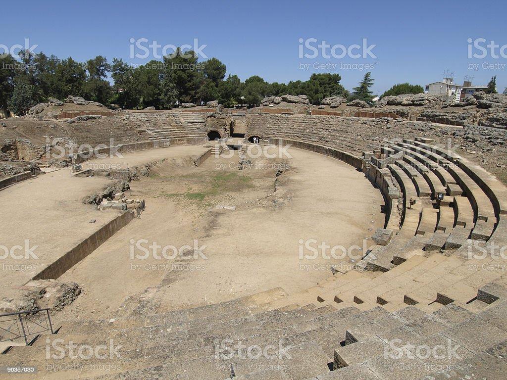 Roman Ampitheatre at Merida, Spain royalty-free stock photo