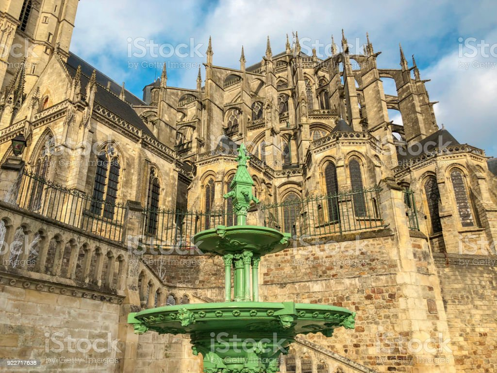 Roman et gothique cathédrale Saint-Julien du Mans - Photo