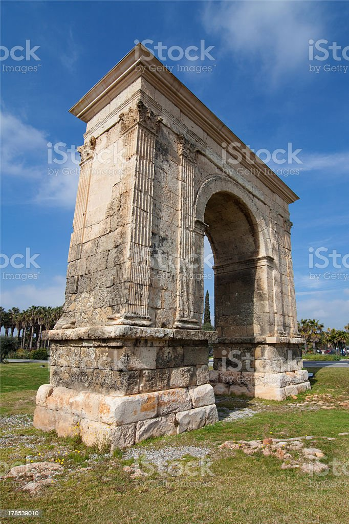 Roman Arch of Bera royalty-free stock photo