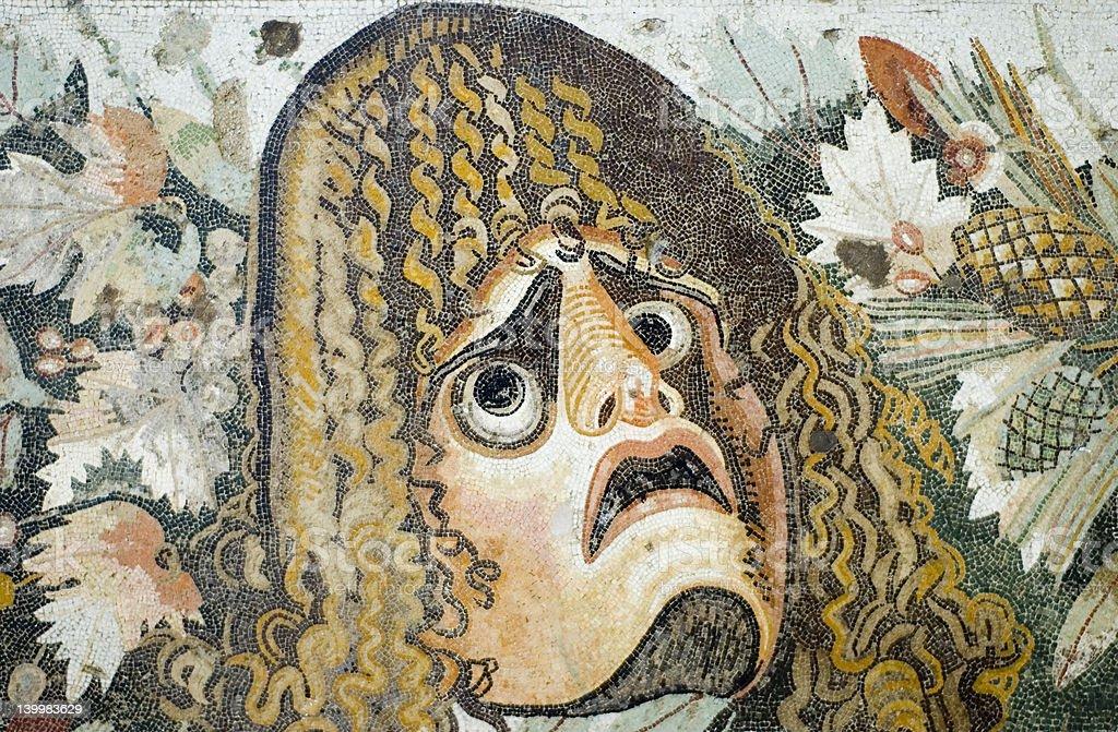 Roman archeological antiquites stock photo