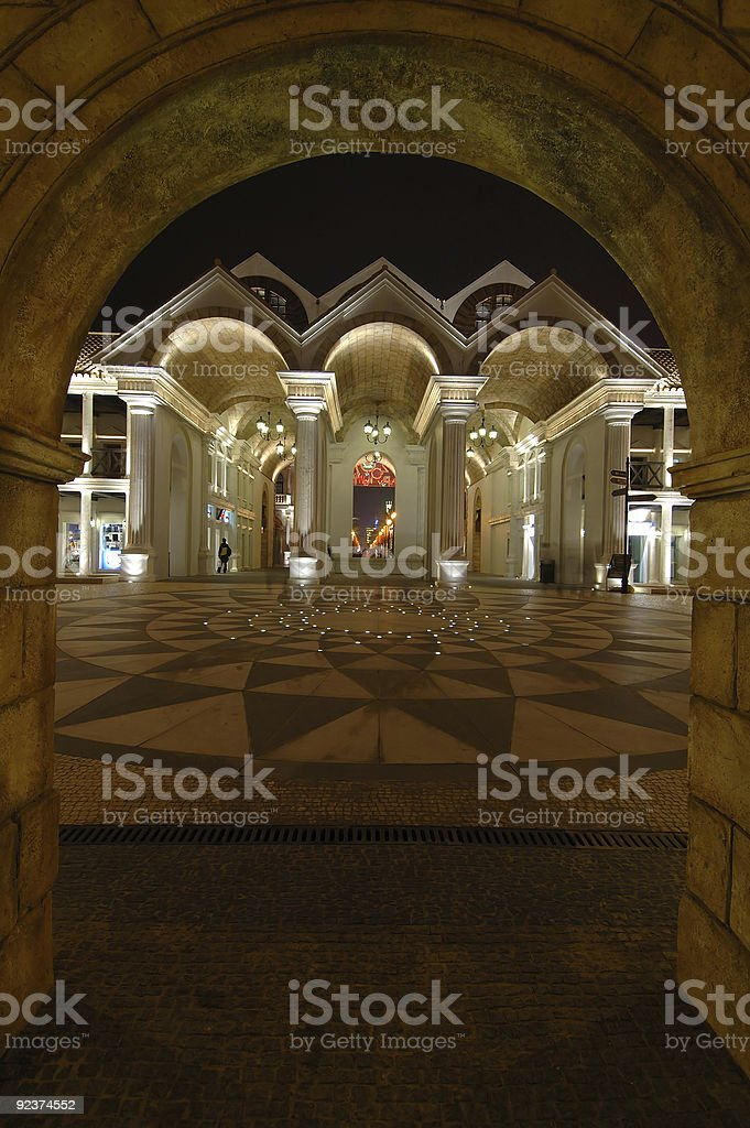 Roman architecture in fisherman wharf, Macao royalty-free stock photo