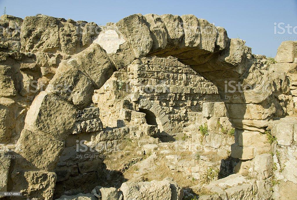 Römischer Bogen, Salami, Zypern Lizenzfreies stock-foto