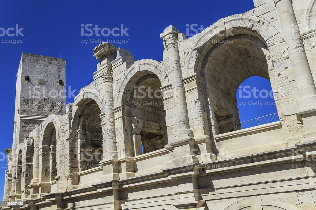 Roman Arena / Amphitheater in Arles, Provence, France royalty-free stock photo