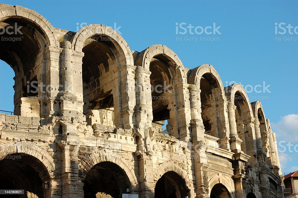 Roman arena in Arles stock photo