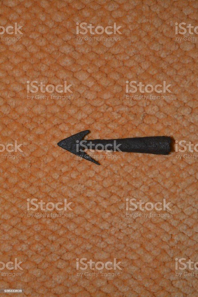 roman arrowhead, ancient stock photo