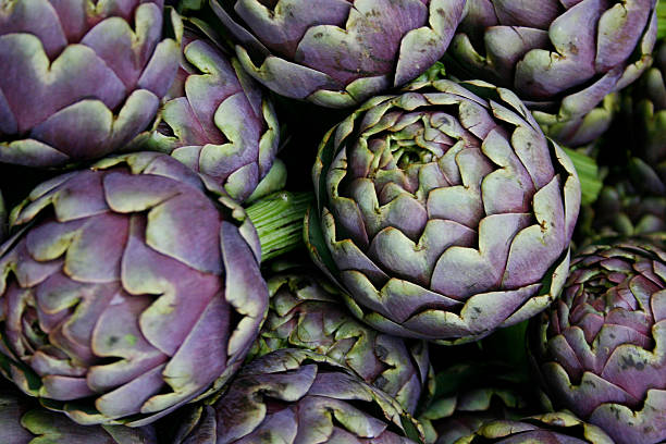 Roman artichokes - foto de stock