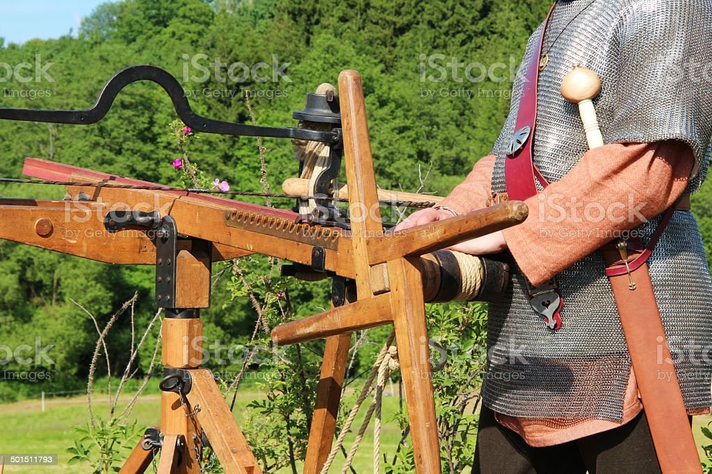 Roman at arrow shoot weapon royalty-free stock photo