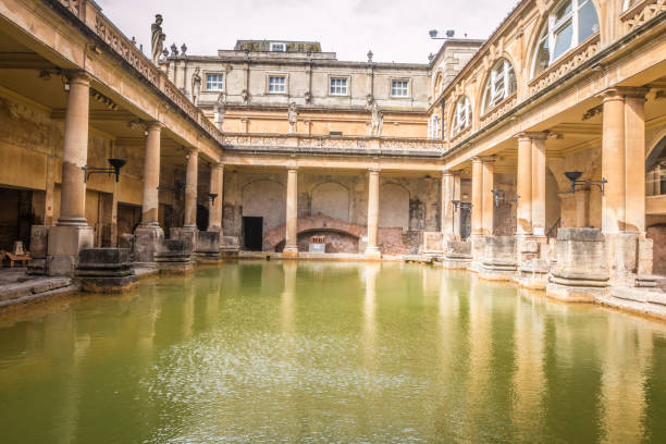Roman Bath Bath England roman baths england stock pictures, royalty-free photos & images