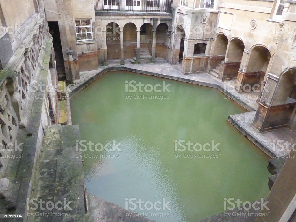 Roman Bath, taken in Bath, England stock photo