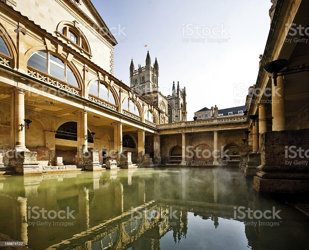 Roman Baths, Bath England stock photo