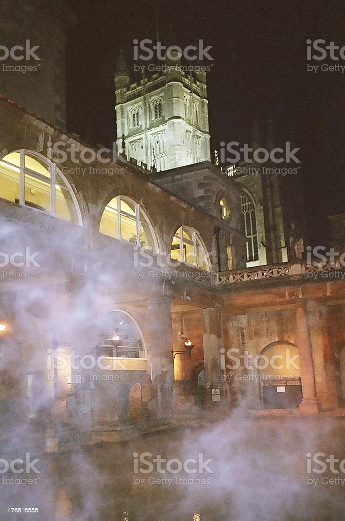 Roman Baths, Bath, England stock photo