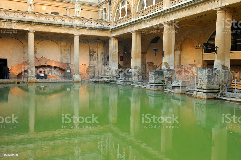 Roman Baths, Bath stock photo