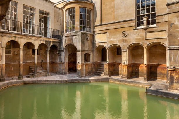 Roman baths in Bath, England. Roman baths in Bath, England, UK. roman baths england stock pictures, royalty-free photos & images