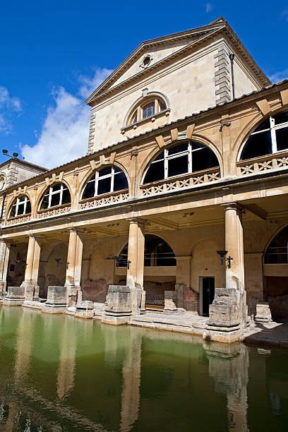 Roman Baths Roman Baths in Bath, Somerset. roman baths england stock pictures, royalty-free photos & images