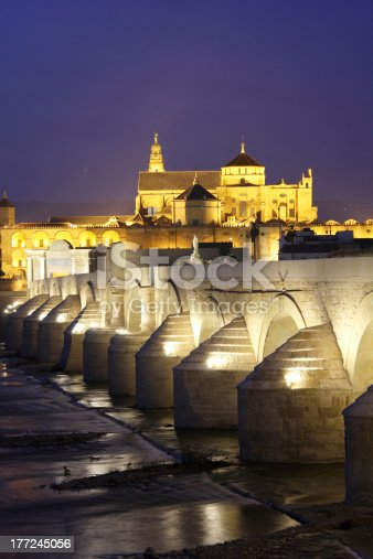 istock Roman Bridge and Mosque of Cordoba 177245056