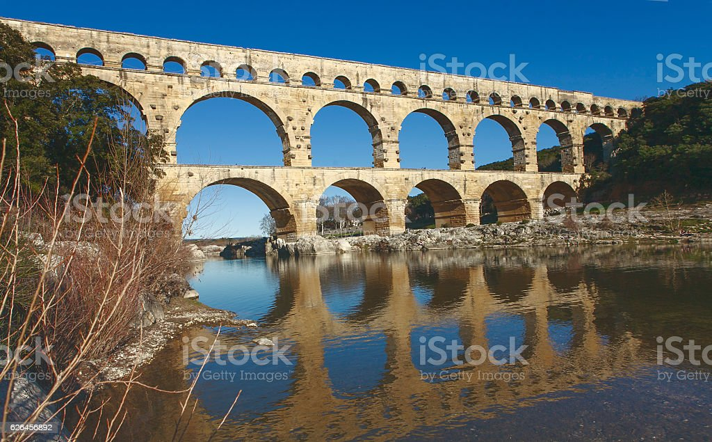 roman bridge stock photo