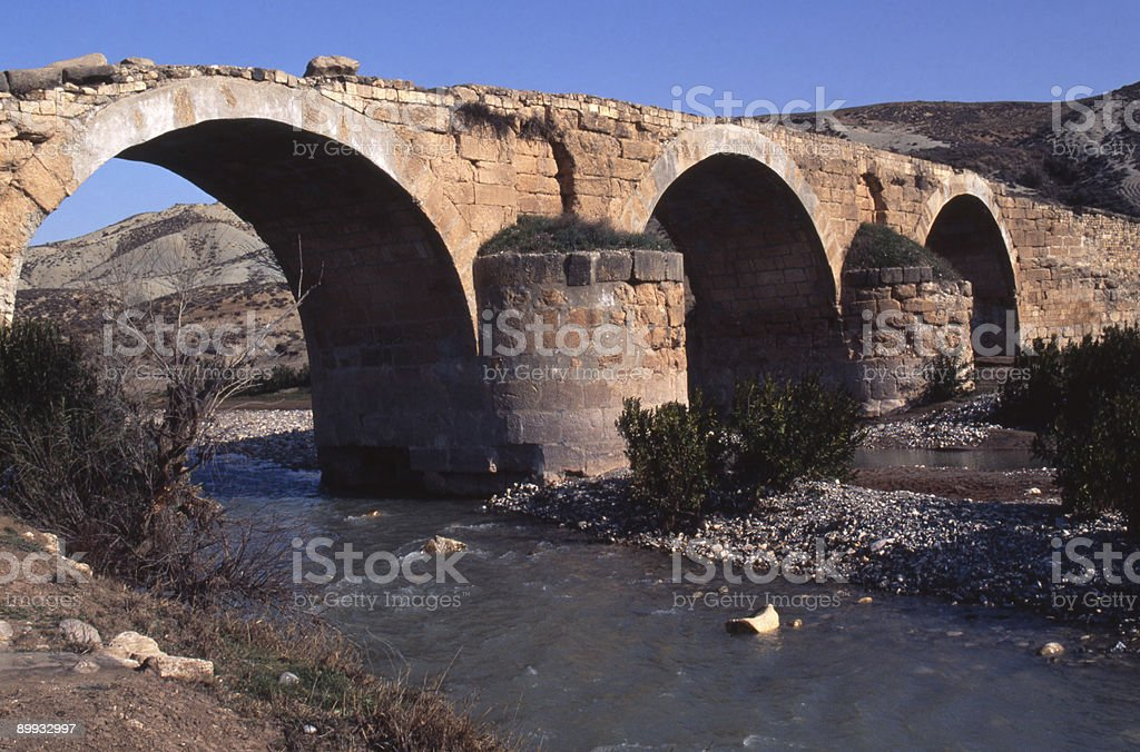 Roman bridge Syria stock photo