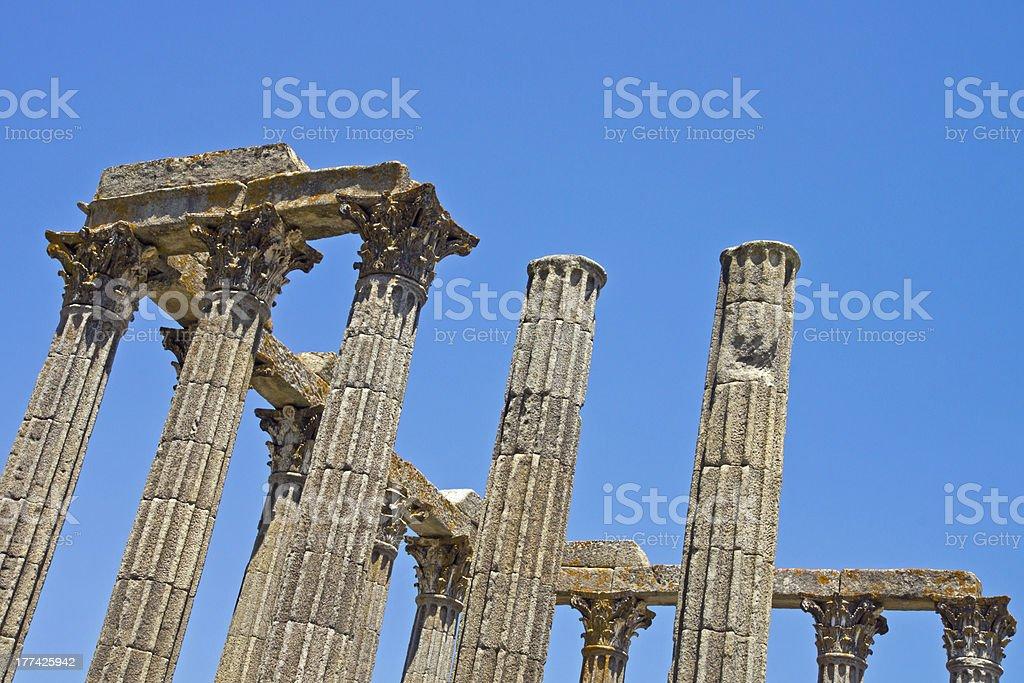 Roman building columns royalty-free stock photo