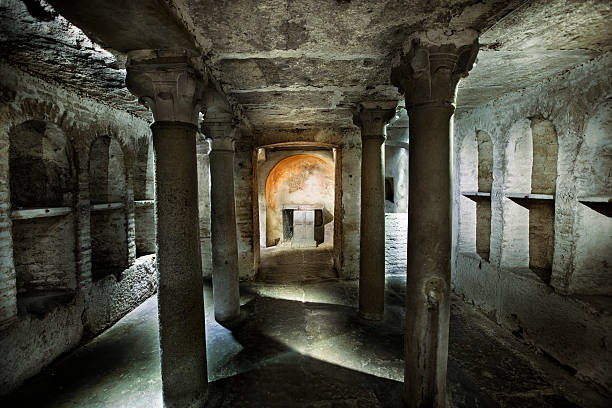 roman catacomb tomb - roman stock photos and pictures