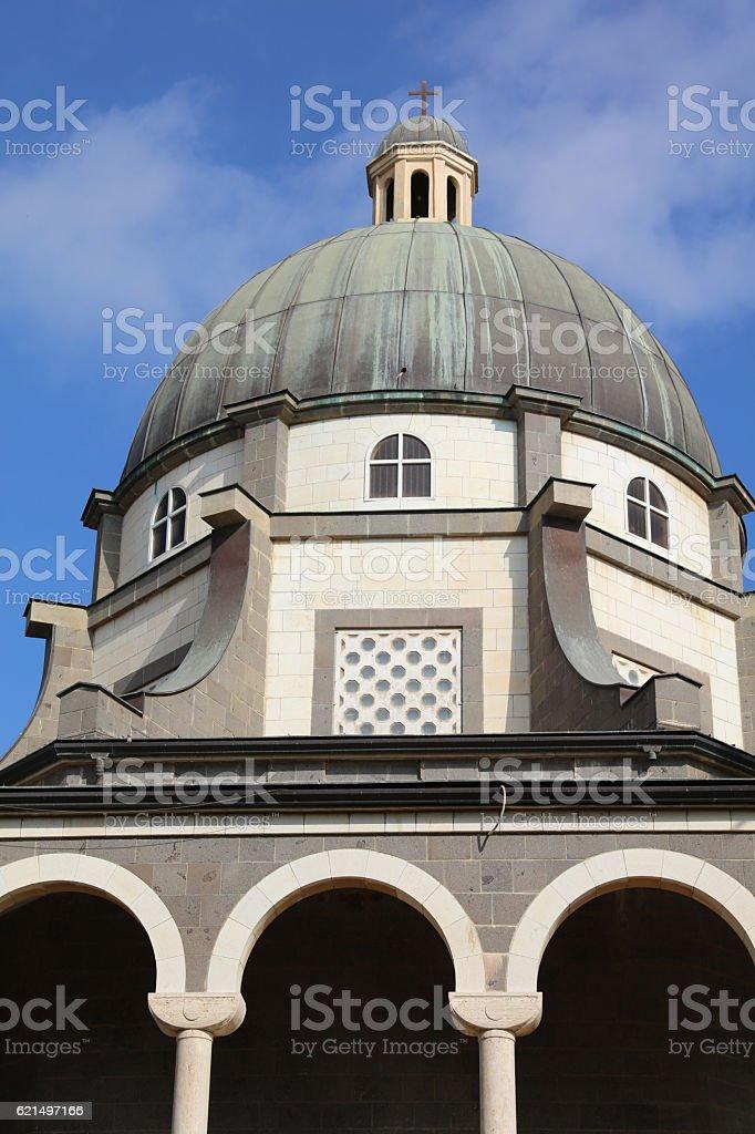 Roman Catholic Chapel at Mount of Beatitudes. Israel foto stock royalty-free