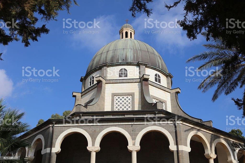 Roman Catholic Chapel at Mount of Beatitudes stock photo
